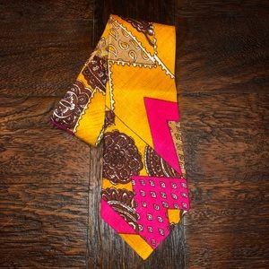 Vintage 1970's Groovy Colorful Necktie